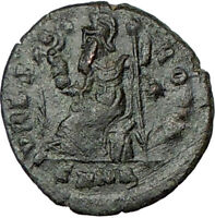 VALENTINIAN II 378AD Ancient Roman Coin ROMA w Victory and spear i19834
