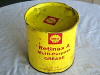 A Vintage 60's Shell Retinax A Multi Purpose Imperial Measure 5 Pound Grease Tin