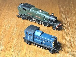 TWO LOCOS Hornby 0-2-0 & Airfix 2-6-2 TESTED Repairs OO Not Boxed