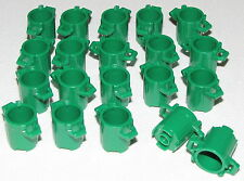 LEGO LOT OF 20 NEW GREEN CITY TRASH CANS TOWN GARBAGE PIECES PARTS