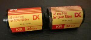 2 Rolls Exposed/Undeveloped Kodak 35mm Slide Film Kodachrome 72 Mystery Photos B