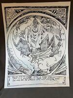 Unique RARE  Phillip Ratner Signed 12/100 Wizard Dragon Fantasy Print b620