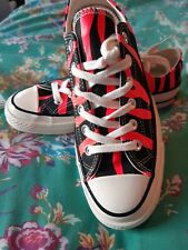 Converse size 5.5 or 6 Eu 38 but feel 39 Pink And Black Tiger Stripe New In Box