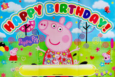PEPPA PIG GEORGE PIG HAPPY BIRTHDAY PARTY POSTER/BANNER - PARTY SUPPLIES