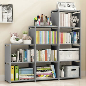 9 Cube Modern Book Shelves Storage Shelf Bookcase Display Unit Stand Organizer