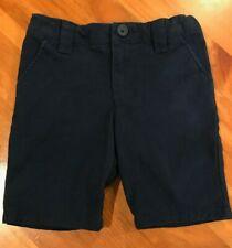 Cat & Jack Girls Size 5 Navy Blue Chino Bermuda Shorts School Uniform Flat Front