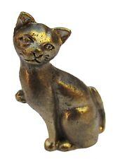 Figurine chat en bronze statuette