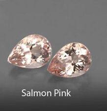 3.04cts Stunning Luster Natural 9X7mm Peach Pink Morganite Pair Loose Gemstone