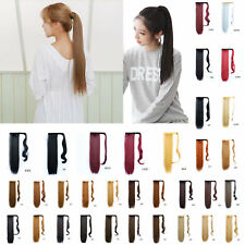 Lady Cosplay Party Long Straight Drawstring Ponytail Hair Extensions 33 Colors