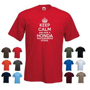 'Keep Calm and Ride a Honda ST1300 Pan European' Men's Motorbike T-shirt
