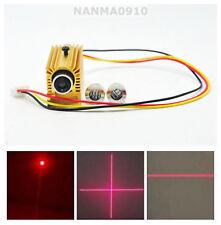 Dot/Line/Cross Adjustable 650nm 5mw Red Laser Module w/ TTL 0-15khz & Heatsink