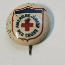 1960's Vintage American Junior Red Cross Metal Pinback Pin Tab Backing