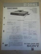 Sony Service Manual~ST-S444ES Stereo Tuner~Original~Repair
