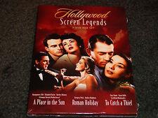 HOLLYWOOD SCREEN LEGENDS-3 DVDs-Elizabeth Taylor, Audrey Hepburn, Grace Kelly