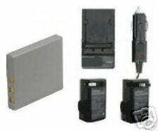 Battery + Charger kit for Pentax Optio WPi W10 W20 A40