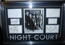 NIGHT COURT SIGNED FRAMED CAST PSA/DNA HARRY ANDERSON, JOHN LARROQUETTE