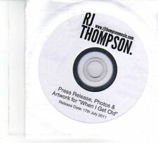 (DW424) RJ Thompson, When I Get Old - 2011 DJ press pack DVD