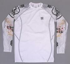 Fixgear Men's Long Sleeve Cpd-W9 Compression Base Layer Shirt Mc7 White Large