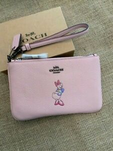 Coach X Disney Daisy Duck Wristlet  * Sold Out* NWT ON HAND immediate shipping