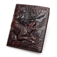 Portefeuilles de Luxe homme en Cuir Véritable Sculpté Dragon / Tigre / Crocodile