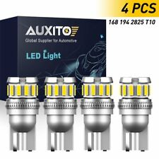 4x AUXITO 194/168/2825 T10 LED Light Marker Map License Plate Bulbs 6000K White