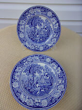 "Set Of 6 W.R. Midwinter LTD. England ""Rural England"" Blue & White 7 3/4 "" Plates"