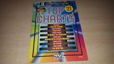 Notenheft - Keyboard & Klavier - Top Charts - Nr. 21 - mit  CD - top Zustand