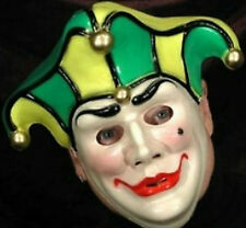 Harlequin Jester Mardi Gras Plastic Face Mask