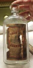 Nice Dr. Meyer's Genuine Crude Oil Shampoo Brooklyn NY Original Label w Oil Well