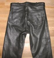 """WOW!!! fette Herren- LEDERJEANS / Biker- Lederhose in schwarz ca. W35"""" /L30"""""""