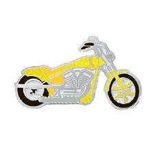 Yellow Cancer Awareness Ribbon Troops Motorcycle Biker Lapel Pin Tac Tack New