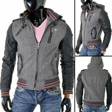 Unbranded Men's Biker Hooded Coats & Jackets