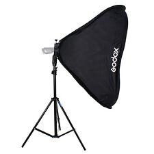 Studio Photo Light Stand + Foldable Softbox 60x60 +Flash Holder Bracket S Mount