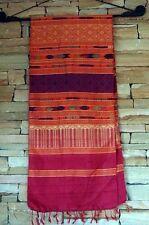 Silk Scarf Wall Hanging Tribal Hand Loom Woven Laotian