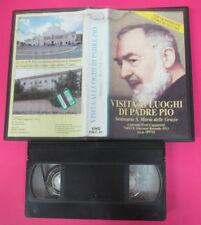 VHS film VISITA AI LUOGHI DI PADRE PIO Santuario S.Maria Grazie (F175) no dvd