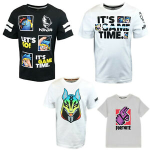 Boys Girls Fortnite T-Shirt Top Ninja Age 7 - 18 Years