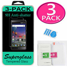3x Superglass Tempered Glass Screen Protector For ZTE ZMAX PRO