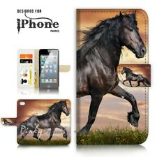 ( For iPhone 7 Plus ) Wallet Case Cover P21150 Horse