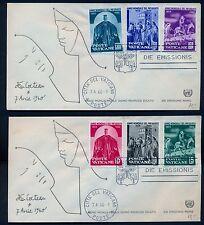 Papa Giovanni XXIII/1960 i  6 val. Anno del Rifugiato su 2 FDC/Bolaffi 275/80+++