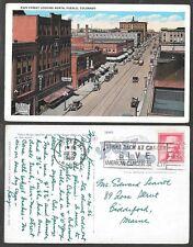 1956 Colorado Postcard - Pueblo - Main Street Scene Looking North