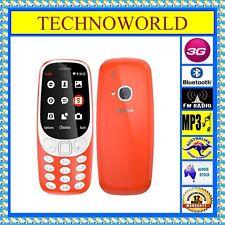 Unlocked Nokia 3310 3g Australia Edition All Sims 2mp FM Red