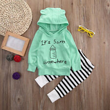 Toddler Baby Girl Boy Sweater Tops+Long Pants Outfits Tracksuit Clothes Set 6M