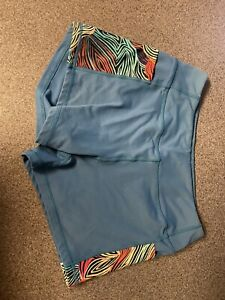 Born Primitive Booty Shorts, Women S, Dark Teal ,Side Pockets, Good Condition