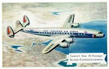 EASTERN AIR LINES Super Constellation Plane ~ c1950's Postcard ~ FREE SHIPPING