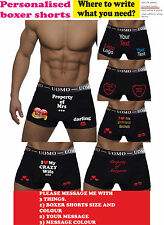 Personalised mens Boxer Birthday Shorts  Wedding Groom Anniversary Gift