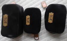 NWT $245 3 JUICY COUTURE MAKEUP COSMETIC  BAGS W/ ZIPPERS BLACK  BLOOMINGDALE'S
