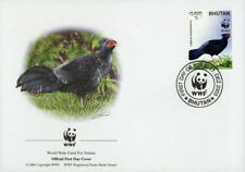 WWF  UCCELLI  FDC BHUTAN BUSTA PRIMO GIORNO 2003 FAGIANI 1/4