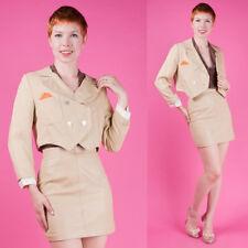 Natural Linen Vtg 50s 60s Cropped Tuxedo Blazer Jacket Xs/S