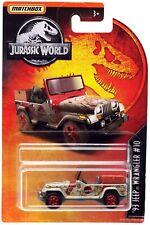 Jurassic World Matchbox '93 Jeep Wranger #10 Diecast Vehicle [Muddy]