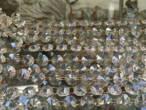 *BEAUTIFUL* 14mm x 20 VINTAGE chandelier CRYSTAL spares crafts 2 HOLES RARE